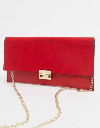 New Look clutch bag in red