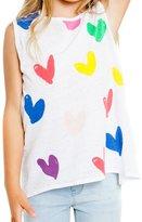 CHASER KIDS - Girl's Painted Heart Tank