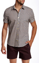 Parke & Ronen Concorde Khaki Print Short Sleeve Shirt
