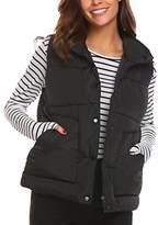 Soteer Women Down Vest Packable Lightweight Outdoor Puffer Vest Coat