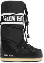 Moon Boot Shell-piqué And Faux Leather Snow Boots - 42/44