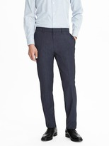 Banana Republic Standard Blue Performance Wool Pant