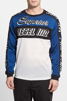 Diesel Gregor Long Sleeve Mesh and Jersey Moto T-Shirt