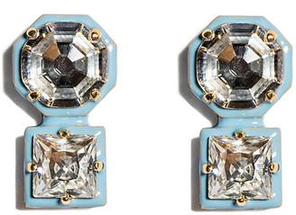 Lele Sadoughi Double Crystal Stud Earrings
