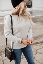 Ampersand Avenue Be Mine Heart Sweater - Grey