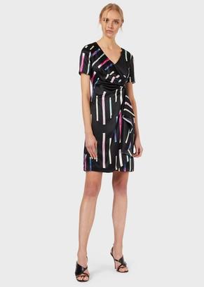 Emporio Armani Printed, Silk Satin Dress