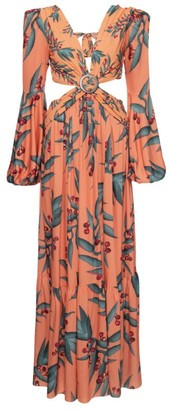 PatBO Floral Cut-Out Maxi Dress