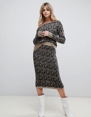 Asos DESIGN two-piece leopard skirt