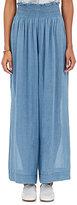 Giada Forte Women's Linen-Cotton Wide-Leg Pants-BLUE
