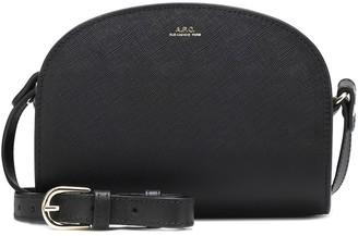 A.P.C. Demi-Lune leather mini shoulder bag