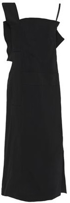 Jil Sander Cutout Paneled Crepe Midi Dress