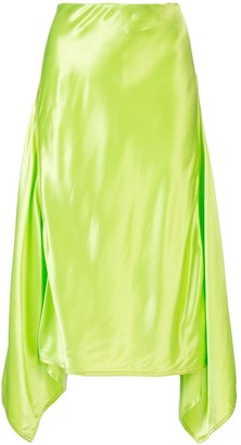 Sies Marjan Darby satin asymmetric skirt