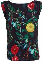 Armani Jeans Navy Multi-Coloured Floral Print Sleeveless Top