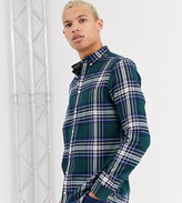 Burton Menswear Big & Tall checked shirt in ginger-Yellow