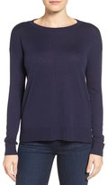 Petite Women's Halogen Seam Detail High/low Sweater