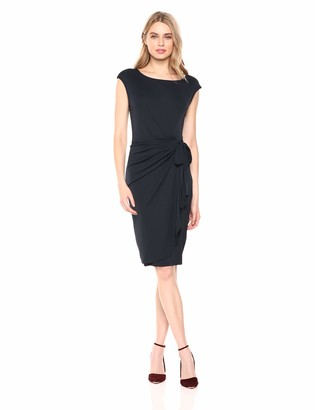 Lark & Ro Amazon Brand Women's Cap Sleeve Bateau Neck Wrap Dress