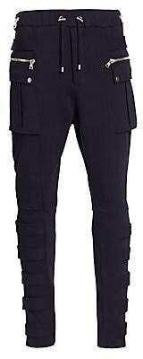 Balmain Men's Leg Strap Cargo Joggers