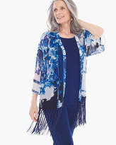 Chico's Patchwork Fringe Duster