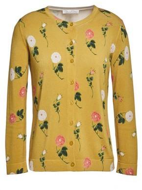 Oscar de la Renta Floral-print Knitted Cardigan