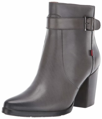 Marc Joseph New York Women's Leather Luxury Bootie with Side Zipper/Buckle Chukka Boot