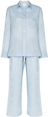 Pour Les Femmes Organic Japanese cotton pyjama set