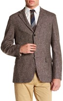Brooks Brothers Notch Lapel Three Button Brown Wool Jacket