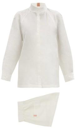 Lunya - Resort Linen-blend Pyjama Set - White