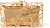 Charlotte Olympia Pandora Foil-embellished Perspex Clutch - Gold