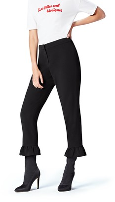 Find. Amazon Brand Women's Cropped Trousers with Frill Hem Details