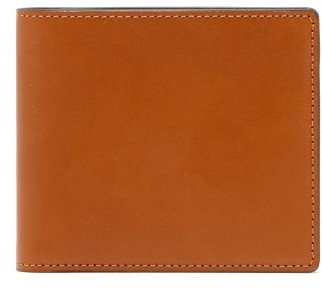 Maison Margiela Logo-stitch Leather Bi-fold Wallet - Mens - Brown