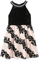 Speechless Girls 7-16 & Plus Size Flocked Rose Skirt Dress