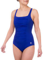 Roots One-Piece Shirred Swimsuit