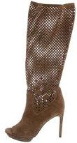 Diane von Furstenberg Laser Cut Knee-High Boots
