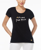 MICHAEL Michael Kors 'Flash Your Gold' Graphic T-Shirt, A Macy's Exclusive Style