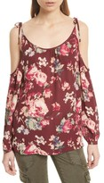 Joie Women's Jilette Cold Shoulder Floral Silk Top