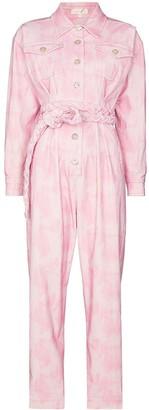 LoveShackFancy Morellia tie-dye corduroy jumpsuit
