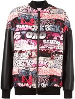 Giamba graffiti bomber jacket