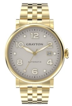 Grayton Men's Classic Collection Ip Gold Tone Stainless Steel Bracelet Watch 44Mm