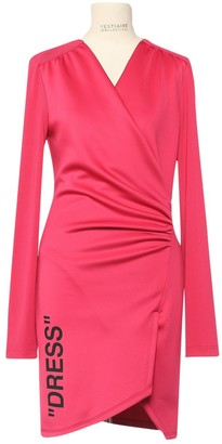 Off-White Pink Polyester Dresses