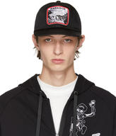 Lanvin Black Paradise Patch Cap