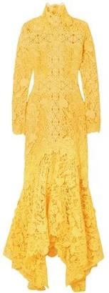 Costarellos Guipure Lace Gown