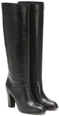 Loro Piana Debbie 90 leather knee-high boots