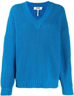 MSGM knitted v-neck jumper
