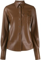 Peter Do leather look shirt