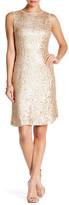 Donna Ricco Metallic Textured Midi Dress