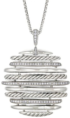 David Yurman Tides Sterling Silver & Diamond Pendant Necklace