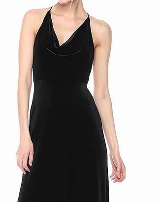 Jenny Yoo Women's Sullivan Velvet Cowl Neck Long Gown
