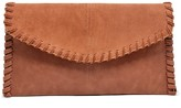 Sole Society Waverly Suede Whipstitch Clutch