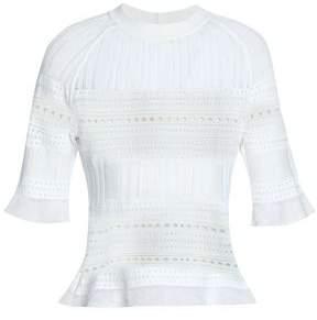 Raoul Pointelle-knit Cotton-blend Top