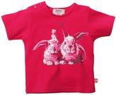 Zutano Bunny S/S Screen Tee - Fuchsia- 6 Months
